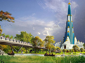Vrindavan Chandrodaya Mandir Images HD for free download